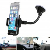 CAR WINDSHIELD MOUNT MOBILE PHONE HOLDER FOR ALL SMARTPHONES & GPS