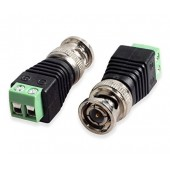 Mini Coax CAT5 Male BNC Connector To Camera CCTV BNC Video Balun Connector Adapter