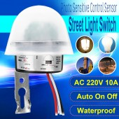 Sensitive Automatic Photo Switch AS-20  AC 220V 10A On / Off Photocell Street Switch Sensor
