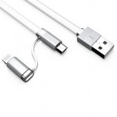 2 in 1 Data and Charging Cable Android iPhone Sync Charge Cable