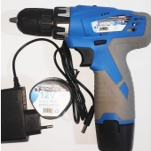 HENGLIDA Brand Double Battery 12 volt Electric Drill Machine Wireless Cordless Rechargeable Drill Machine Screwdriver Bit Toolkit Power Tools