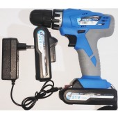 HENGLIDA Brand Double Battery 21 volt Variable Electric Drill Machine Wireless