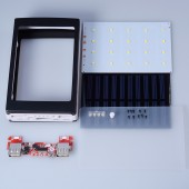 5V PCBA Motherboard Solar Power Bank Case DIY Box for 5x18650 Dual USB with 20Pcs LED