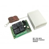 Remote control switch RF wireless 4 channel 433Mhz switch 12V DC 10A 4ch 4relays