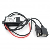 Car Motorcycle Dual USB Charger DC 12V To 5V 3A Power Adapter Supply
