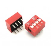 DIP Switch Slide Type 2.54mm Pitch 2 Row DIP Toggle switches 4p
