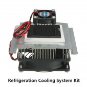 TEC1-12705 DC 12V 6A Thermoelectric Peltier Refrigeration Cooling System Kit Cooler Fan