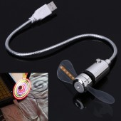 Flexible USB Fan with 5 Color LED Light Switchable Cool Gadget