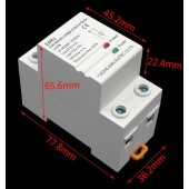 220v Under Over Volt Protection Voltage Protection Protector Circuit Breaker