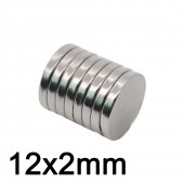 Neodymium magnet 12x2 Rare Earth small Strong Round permanent 12*2mm fridge Electromagnet NdFeB nickle magnetic
