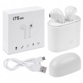 i7S TWS Wireless Twins Bluetooth Earbuds with Charging Dock and Mic Support
