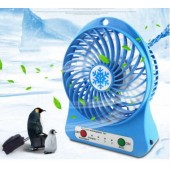 Portable 3 Gear Speed 4.5W Cooling Fan Mini USB 3.7V LED Fan Li-ion 2200mAh Battery Rechargeable Multifunctional Fan