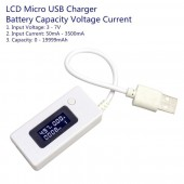 LCD Micro USB Charger Battery Capacity, Voltage, Current, Tester Meter Detector