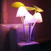 Night Light Induction Dream Mushroom Fungus Luminaria Lamp 220V