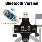 Color TFT USB tester Bluetooth Type-C PD Digital voltmeter voltage current