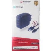 SiGMA SCC-2 Turbo Charger Ultra Fast Charging with Quick Charge 3.0
