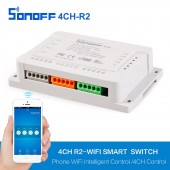 220V Wifi Smart Remote Control Switch 4CH 4 Way Wireless Timer DIY Sonoff
