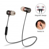Magnet Sport In-Ear Bluetooth Earphone Wireless Handsfree Stereo Headset with Mic