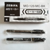 ZEBIFA MO-120-MC-BK small double head marker oily marker pen