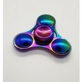 Metallic Rainbow Anti-Anxiety Fidget Spinner Hand Toy for Relieving Boredom