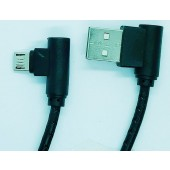 L Shaped Micro USB Data Sync Charging Cable for Samsung Note Galaxy For Other Android Phones