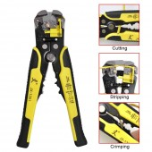 Wire Stripper 5 in 1 Multifunctional Automatic Wire Cable Cutter Crimping Tool Cable Peeling Pliers Cutting Stripping Crimping Up to 24 AWG
