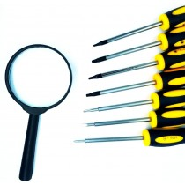 7 Piece Screwdrivers Set with Magnifying glass