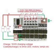 4S BMS 16.8V 100A Li-ion LMO protection lithium battery circuit board li-polymer balance charging module