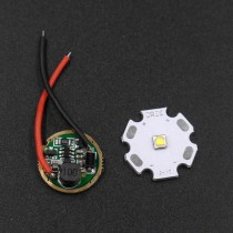 19.7mm 1-mode LED Driver Circuit Board for Flashlight DIY 1.5V-3.7V input / 800-1000mA / for Cree XP-E/XT-E/XP-G