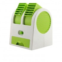 Dual Air Conditioner Shaped Mini Cooler USB Fan With Fragrance