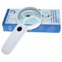 Hand-Hold Magnifier with 2 LED 4X Lighted Reading Magnifying Glass (Exclamation Mark Type)