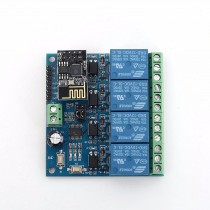 DC12V ESP8266 Four Channel 4 Channel Wifi Relay IOT Smart Home Phone APP Remote Control Switch