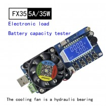 35W 5A Constant Current Electronic Load 1V-25V USB Battery Capacity Tester meter