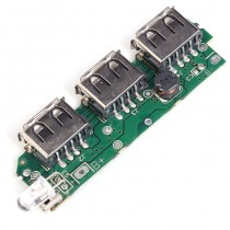 3 USB 5V 2A Mobile Power Bank Lithium Battery Charger Module 3V to 5V Step Up Boost Power Module