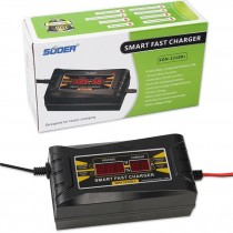 12V 10A Auto Smart Fast Lead-acid Battery Charger Car Motorcycle LCD Display