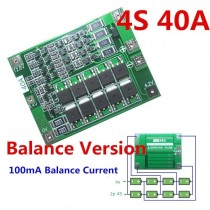 4S 40AA Li-ion 18650 BMS PCM Battery Protection Board Balance Lipo Module 14.8V 16.8V