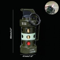 M-84 Hand Grenade Lighter, Gas windproof lighters With Keychain