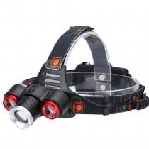 Headlamp Flashlight USB Head Lamp, T6 Head Light, Rotary Zoom, 4 Mode, IPX4 Waterproof, 18650 Batteries, for Outdoor Hiking Camping Hunting