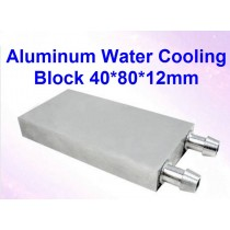 Aluminum CPU Radiator 40*80*12mm Water Cooling Block Liquid Water Cooler