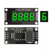 "4-Digit LED 0.36"" Display Tube clock, doubledot 7-segments Display TM1637 for Arduino"