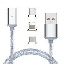 3 in 1 USB Fast Charging Cable Magnetic Adapter Micro USB Type C Head Charger for iPhone Android and USB Type C