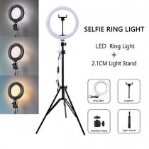 26cm Photographic Selfie Lighting Ring With 7ft Tripod Stand and Mobile Phone holder - Tiktok Ring light With Stand - Makeup light