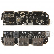 5V 2A 2.1A Power Bank Battery Charger Module 3 USB Step Up Circuit Board