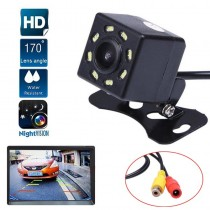 Car Rear View Camera Waterproof HD 8 LED Night Vision Car Camera 170° Wide Angle