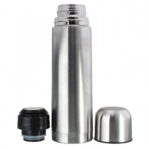 Silver 500ml Stainless Steel Vacuum Thermoses Flask Cup Hot Cold thermal Water Bottle