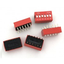 DIP Switch Slide Type 2.54mm Pitch 2 Row DIP Toggle switches 6p