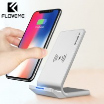 FLOVEME Universal Qi Fast Wireless 10W Power Charger For iPhone X XS Max XR Samsung