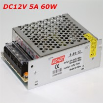220V to 12V 5A 60W Universal Regulated Switching Power Supply