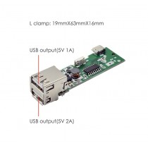 Dual USB 5V 1A/2A Mobile Power bank Charger board module