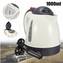 1000ml Car Auto Portable Water Heater Travel Mains Kettle 12V/24V for Tea Coffee 12V